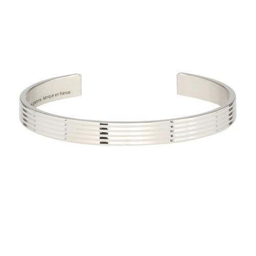 Horizontal guilloché bracelet le 23g
