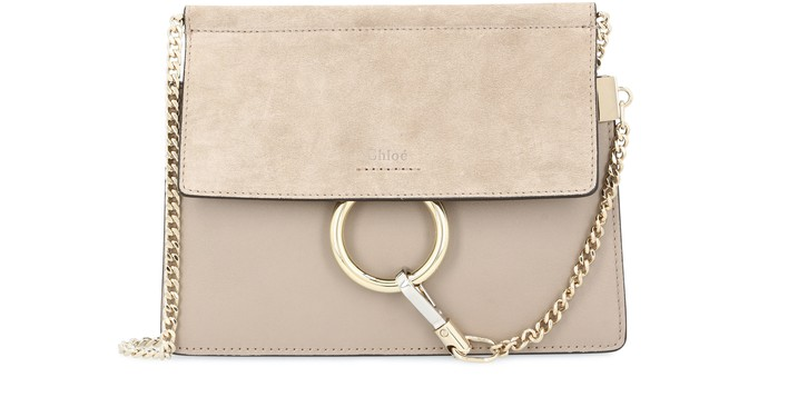 끌로에 Chloe Faye mini chain bag,motty grey