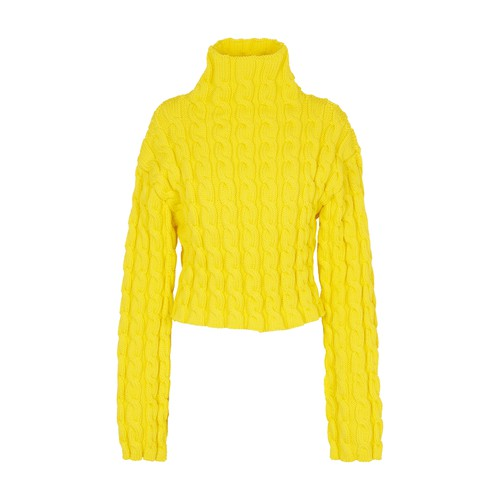 Long sleeve cable highneck