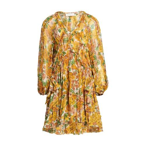 포피 미니 러플 드레스