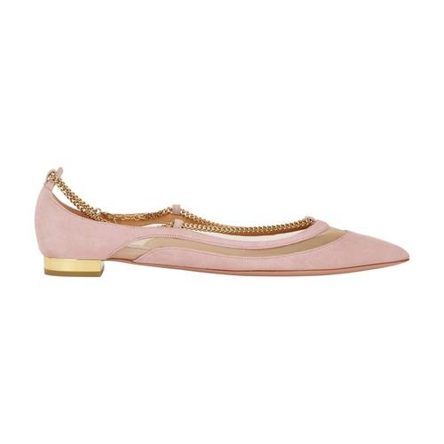 Aquazzura Rumor Ballet Flats In Boudoir Rose