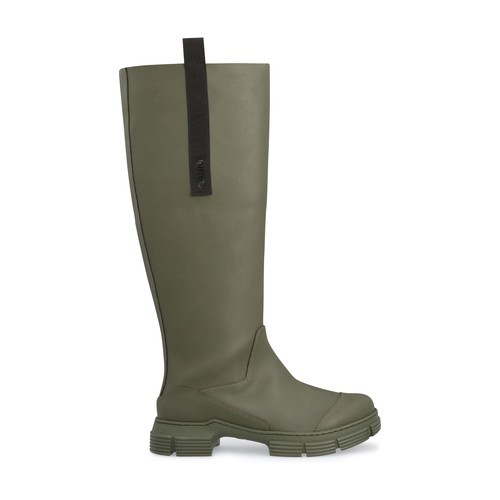 Ganni Recycled Rubber Country Boot In Kalamata