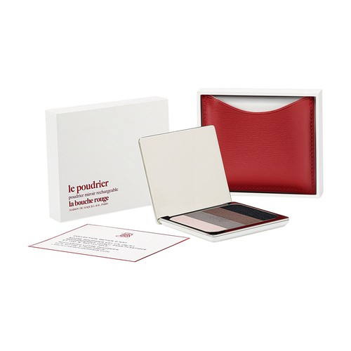 Red fine leather Mead eyeshadow set