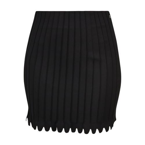 Pintuck skirt