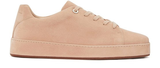 LORO PIANA LEATHER TRAINERS