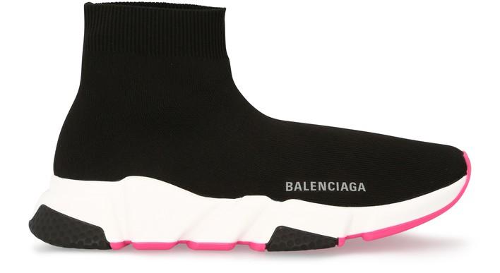 발렌시아가 스피드러너 여성용 - 블랙/핑크 Balenciaga Speed LT sneaker,blac/wh/blac/npink