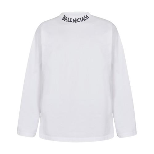 Balenciaga T-shirts CURVED LONG SLEEVES T-SHIRT