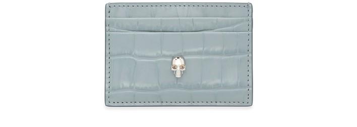 알렉산더 맥퀸 카드 지갑 Alexander McQueen Card holder,blue grey/soft ivory