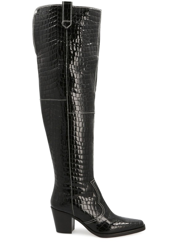 21SS 가니 웨스턴 부츠 Ganni Western boots,black