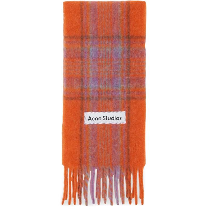 아크네 스튜디오 타탄 머플러 Acne Studios Tartan scarf,orange
