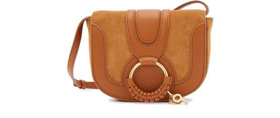 See By Chloé Women's Hana Leather & Suede Saddle Bag In Caramello