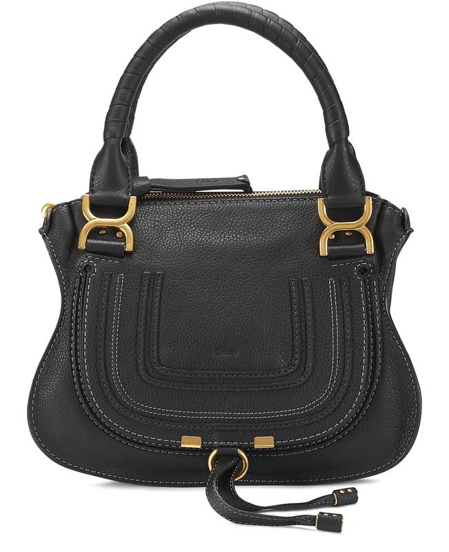 끌로에 마르씨 핸드백 미디움 - 블랙 Chloe Marcie handbag,black