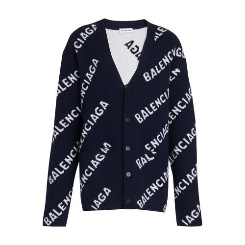 Balenciaga Wools LOGO CARDIGAN