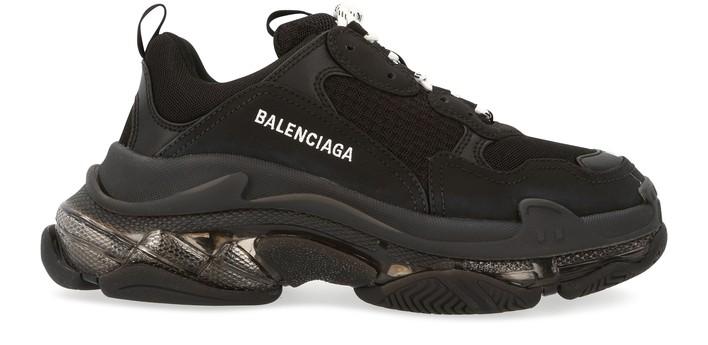 발렌시아가 트리플S 클리어 솔 스니커즈 - 블랙 Balenciaga Triple S clear sole sneaker