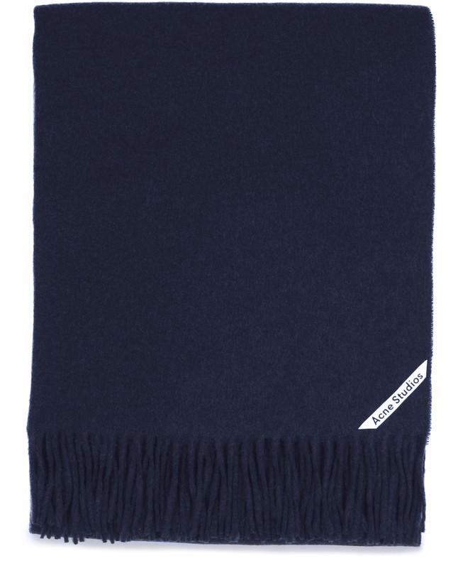 아크네 스튜디오 Acne Studios Canada scarf,navy blue