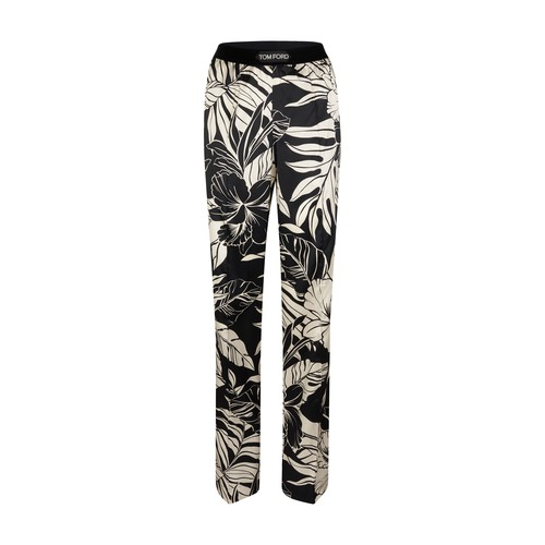 Tom Ford FLORAL PRINTED SILK SATIN PAJAMA TROUSERS