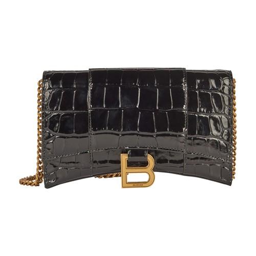 Balenciaga Wallets HOURGLASS WALLET ON CHAIN