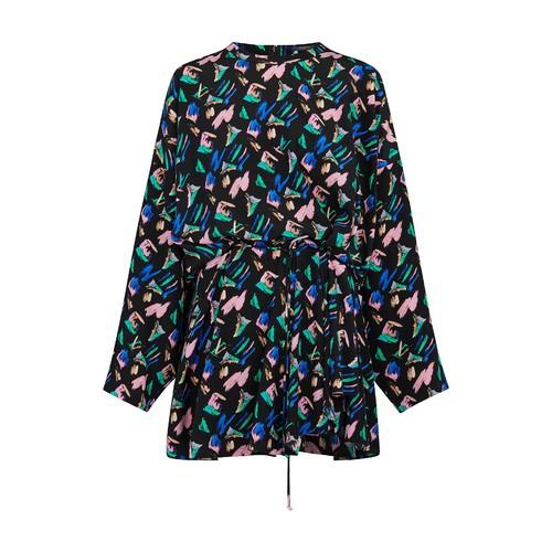 스플래시 프린트 드레스