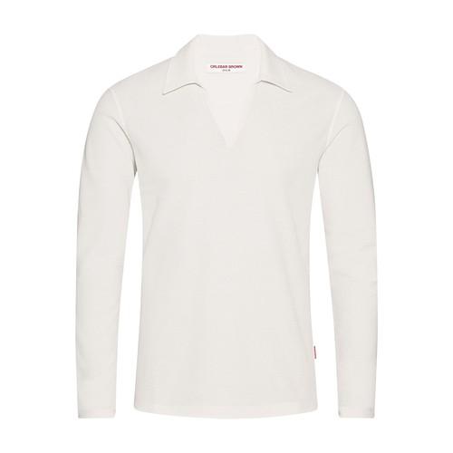Felix Ls Waffle Tailored Fit Resort Polo Shirt