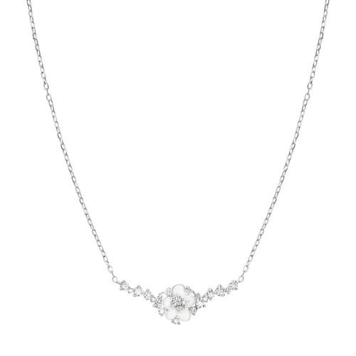 Djula Cherry Blossom Necklace In Metallic
