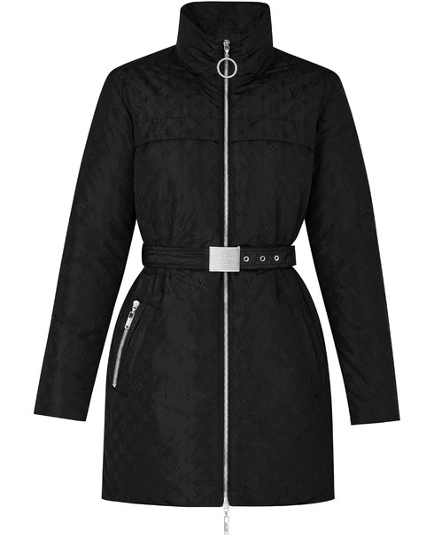 Louis Vuitton Monogram Taffetas Coat In Black