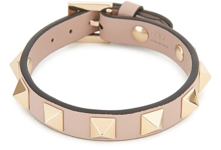 발렌티노 Valentino Garavani - Rockstud leather bracelet,p45