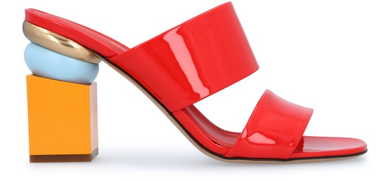 Salvatore Ferragamo Mid-heels Lotte leather sandals
