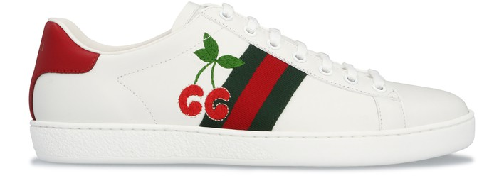 구찌 Gucci Cherry Ace sneakers,bianco/red