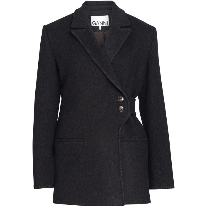 21SS 가니 울 자켓 Ganni Wool jacket,phantom