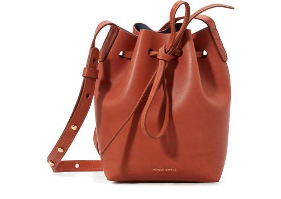 Mansur Gavriel Backpacks Vegetable-tanned leather mini mini bucket bag