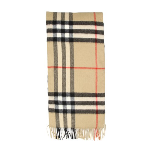 Giant Check Icon cashmere scarf