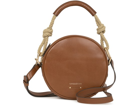 VANESSA BRUNO SMOOTH LEATHER ROUND HOLLY BAG