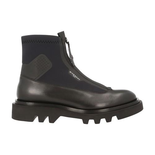 Combat zipped boots
