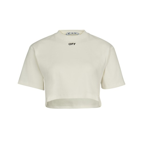 Off-white T-shirt With Logo In White Black