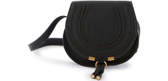 Chloé Marcie Mini Shoulder Bag In Black