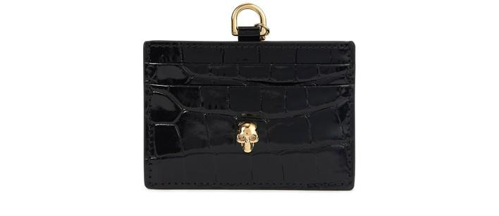 알렉산더 맥퀸 카드 지갑 Alexander McQueen Card holder with chain,black