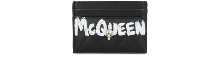 알렉산더 맥퀸 카드 지갑 Alexander McQueen Logo card holder,black/ivory