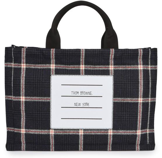 Men's Tweed tote bag   THOM BROWNE   24S
