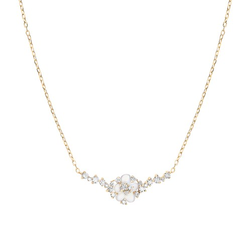 Djula Cherry Blossom Necklace In Gold