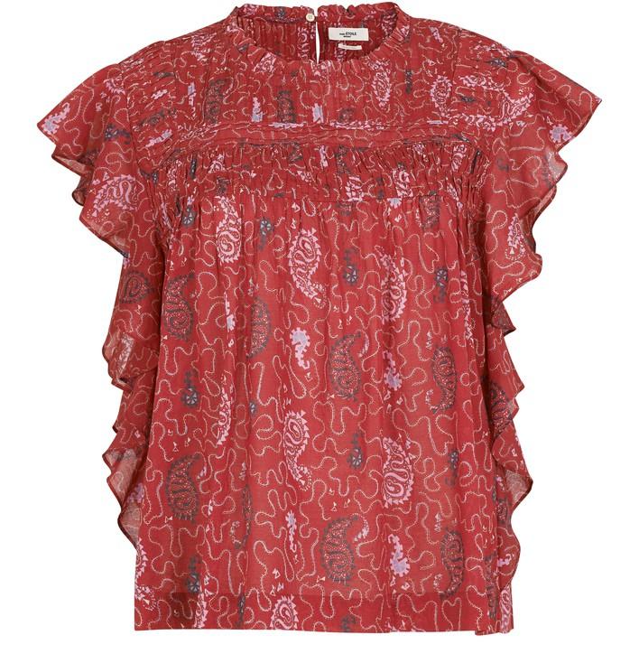 이자벨 마랑 에뚜왈 Isabel Marant Etoile Layona blouse,red