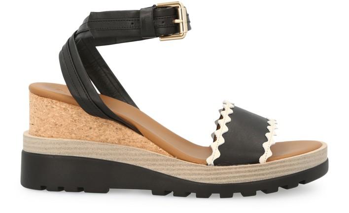씨 바이 끌로에 See by Chloe Robin sandals,black / cream