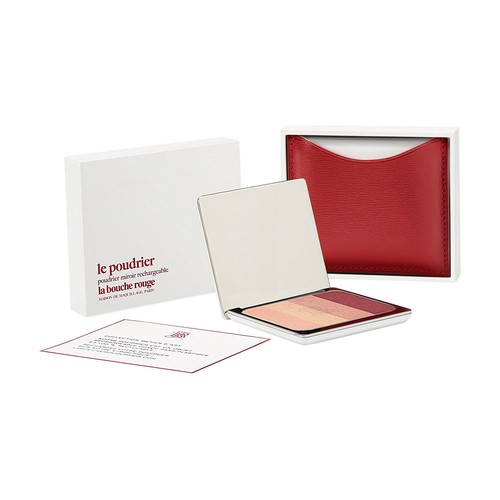 Red fine leather Salton eyeshadow set