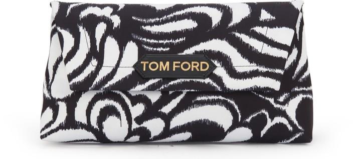 톰포드 라벨백 스몰 Tom Ford Label small shoulder bag,black/white/black