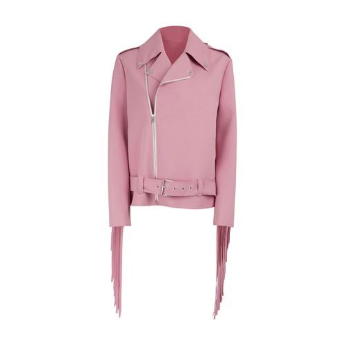 프린지 바이커 재킷