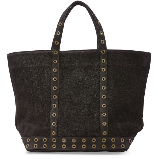 Vanessa Bruno MEDIUM NUBUCK LEATHER AND SEQUINS CABAS TOTE BAG