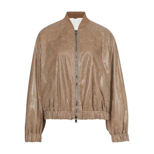 스웨이드 봄버 재킷