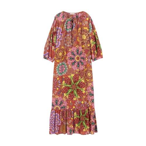 Momoní MINORI DRESS IN PRINTED CREPE DE CHINE