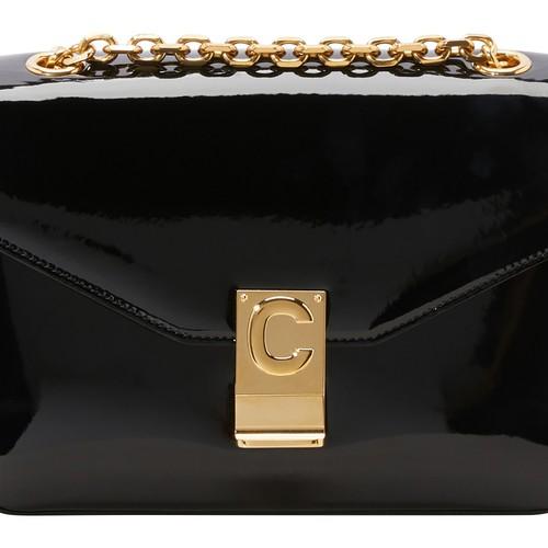 Medium C Bag In Patent Calfskin
