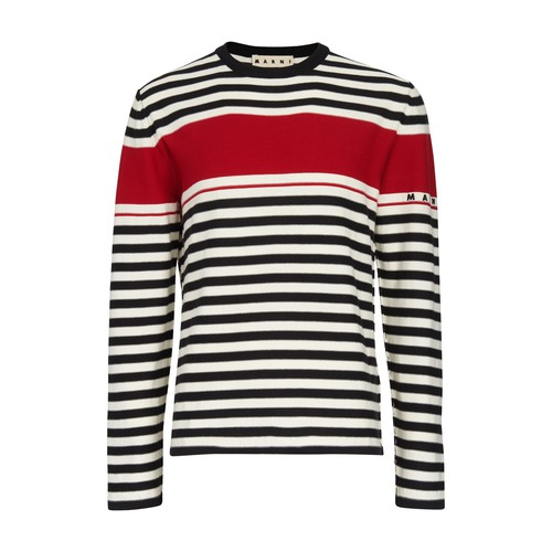Marni Sweatshirts STRIPPED SWEATSHIRT