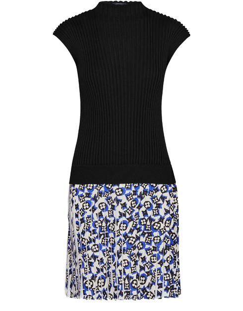 Louis Vuitton Sleeveless Bi-material Knit Dress In Multi
